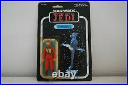 Star Wars Vintage Figur B-Wing Pilot auf original ROTJ Karte 77 back MOC 1983