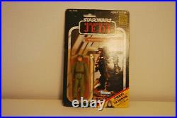 Star Wars Vintage Figur Rebel Commando auf original ROTJ Karte MOC 65 back 1983
