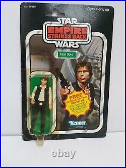 Star Wars Vintage Han Solo Esb 41 Back Moc/carded Figure