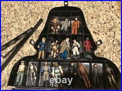 Star Wars Vintage Lot of 31 Figures with Darth Vader Carrying Case