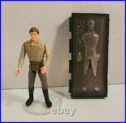 Star Wars Vintage POTF Han Solo Carbonite Figure COMPLETE 1984 No Repro