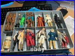 Star wars vintage action figures 1977 lot lettered hilt multiple variants