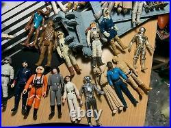 Star wars vintage action figures 1977 lot lettered hilt variants and vehicles