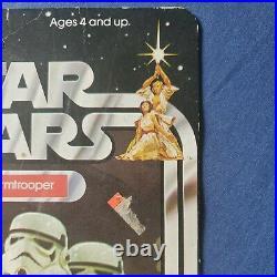 Ultra Rare Vintage Kenner Star Wars Stormtrooper Figure Moc Unpunched 12 Back