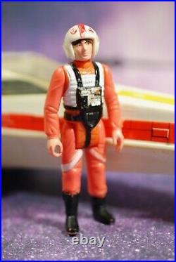 VINTAGE STAR WARS COMPLETE X-WING FIGHTER + Luke Skywalker FIGURE KENNER WORKS