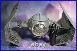 VINTAGE Star Wars COMPLETE Darth Vader TIE FIGHTER + Action Figure KENNER WORKS