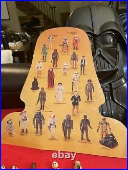 Vintage 1977-1984 Star Wars Action Figures Lot of 30 Darth Vader Case