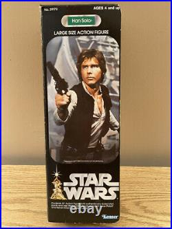 Vintage 1977 Kenner STAR WARS HAN SOLO 12 inch tall figure, w box, CLEAN