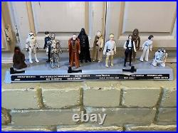 Vintage 1977 Kenner Star Wars Mail Away First 12 Figure Stand & First 12 Figures