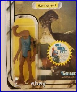 Vintage 1977 Original Star Wars Hammerhead Figure Kenner Original packaging rare