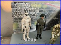Vintage 1977 Star Wars First 12 Mail-Away Display Stand with 11 Figures