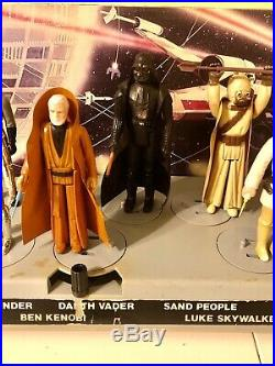 Vintage 1978 Kenner Star Wars Mail Away First 12 Figure Stand & First 12 Figures