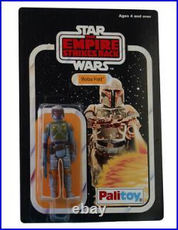Vintage 1980 Star Wars Boba Fett Figure On Custom Made Replica 21 Back Card