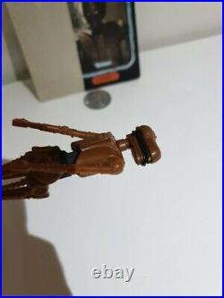 Vintage 1985 KENNER Star Wars EV-9D9 Last 17 POTF Original VGC Figure+COIN+92Crd
