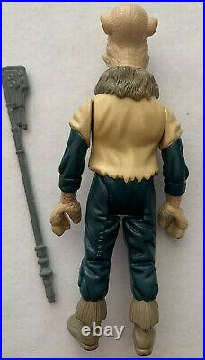Vintage 1985 Star Wars Kenner POTF Original Yak Face Action Figure with Weapon
