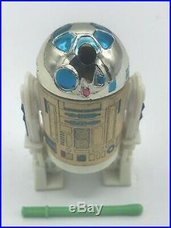 Vintage 1985 Star Wars Potf Last 17 R2-d2 Pop Up Saber Figure Original Saber