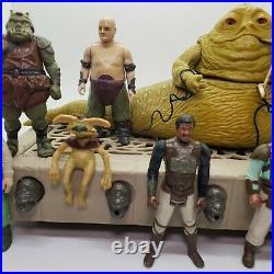 Vintage Kenner 1983 STAR WARS ROTJ JABBA THE HUTT Playset 8 Figure Set Lot