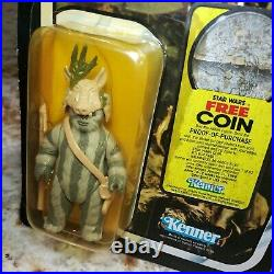Vintage Kenner 1983 Star Wars Teebo and Chief Chirpa figure 77 back