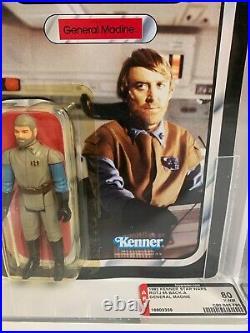 Vintage Kenner STAR WARS MOC ROTJ 1983 General Madine AFA 80 Action Figure