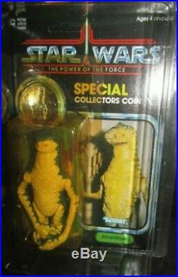 Vintage Kenner STAR WARS Power of the Force AMANAMAN figure UNpeg withcase, moc. GEM