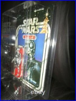 Vintage Kenner Star Wars Death Star Droid figure,'21' back, withcase. Moc. A GEM
