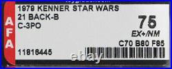 Vintage Kenner Star Wars Figure 21 Back 21B C-3PO AFA 75 (70/80/85) Punched