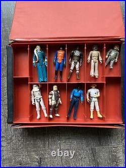 Vintage Kenner Star Wars Return of the Jedi Action Figure Carrying Case W 9 Figs