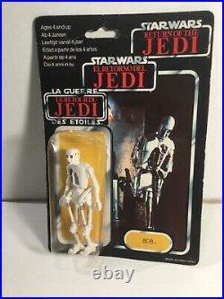 Vintage Palitoy Star Wars 8D8 Figure Return Of The Jedi On 70 Back Card