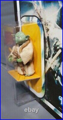 Vintage Recarded Star Wars Yoda Brown Snake Pac-Man eyes Action Figure