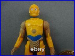Vintage STAR WARS Figure Kenner NM Droids Cartoon C-3PO 100% w Coin 1985 NoCoo