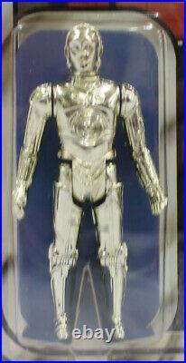 Vintage Star Wars 12 Back-B Carded C-3PO Action Figure AFA 85 (C80 B85 F85) #