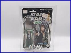 Vintage Star Wars 12 Back Han Solo Large Head In Afa Case 1978 Action Figure