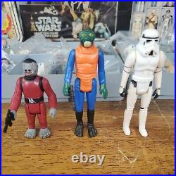 Vintage Star Wars 1977 Kenner 24 Action Figures Withaccessories & Case NEAR MINT
