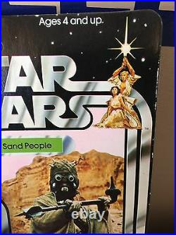 Vintage Star Wars 1977 Kenner Sand People 12-back Action Figure With Acrylic Case