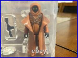 Vintage Star Wars 1977 Kenner Vinyl Cape Jawa Hk Action Figure Afa 85 Nm+/mt Cib