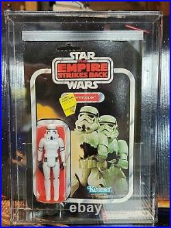 Vintage Star Wars AFA Graded 60 EX ESB Stormtrooper 3.75 Action Figure New 1980