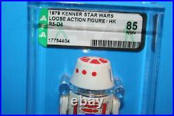 Vintage Star Wars Afa Graded R5-d4 Astro 85 Nm 78 Hk Figures Ls Weapon Kenner Fv