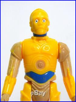 Vintage Star Wars Brazil C-3po Glasslite Figure 1977 Kenner 1985 Droids