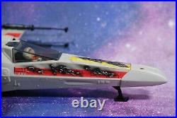 Vintage Star Wars Complete Battle Damaged X-wing Fighter + Figure Kenner Works