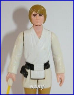 Vintage Star Wars Complete Luke Skywalker Farmboy with Olive Hair Figure 1977