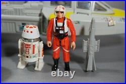 Vintage Star Wars Complete Y-wing Fighter Kenner + Action Figures Works