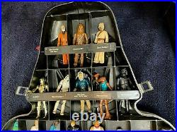 Vintage Star Wars Darth Vader Carrying Case with 39 FIGURES Total (Some extra!)