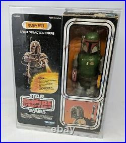 Vintage Star Wars Empire Strikes Back Large Size 12 Boba Fett Figure Boxed