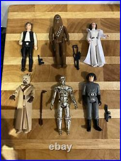 Vintage Star Wars FIRST 12 Figure Lot COMPLETE 1977 ALL ORIGINAL WEAPONS VGC