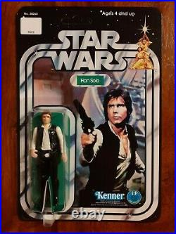 Vintage Star Wars Figure 12 back Recard Set Kenner 1977 R2D2, C3PO. Luke, Jawa