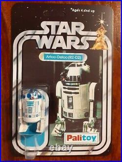 Vintage Star Wars Figure 12 back Recard Set Palitoy 1977 R2D2, C3PO. Luke, Jawa