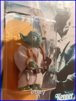 Vintage Star Wars Figure Yoda (Brown Snake) Recard 1980 ESB 41 Back
