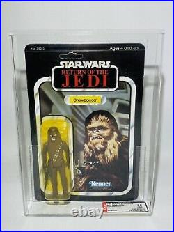 Vintage Star Wars Graded ROTJ Chewbacca Carded Action Figure MOC AFA 85 UKG