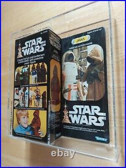 Vintage Star Wars JAWA LARGE SIZE 12 Figure doll AFA 80 80/85/85 12 back 1978