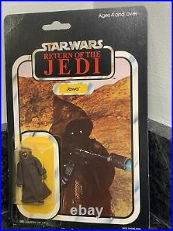 Vintage Star Wars Jawa Carded Figure MOC Factory Sealed Rare Retro Palitoy